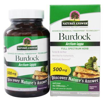Nature's Answer Burdock korzeń łopianu większego suplement diety 90 kapsułek