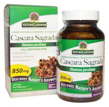 Nature's Answer Cascara Sagrada kora kruszyny amerykańskiej suplement diety 90 kapsułek