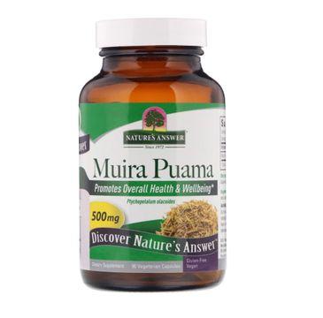 Nature's Answer Muira Puama 500mg ekstrakt z kory muira puama suplement diety 90 kapsułek