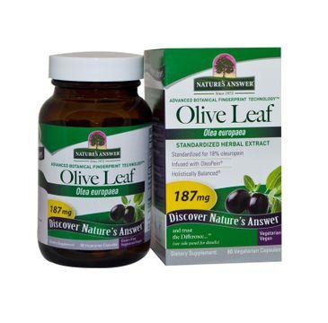 Nature's Answer Olive Leaf liść oliwki europejskiej suplement diety 60 kapsułek