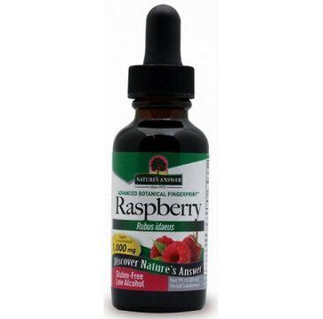 Nature's Answer Raspberry ekstrakt z liści maliny właściwej suplement diety 30ml
