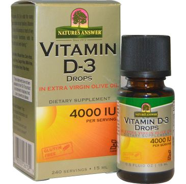 Nature's Answer Vitamin D-3 Drops witamina D-3 suplement diety 15ml