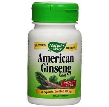 Nature's Way American Ginseng korzeń żeń-szenia amerykańskiego suplement diety 50 kapsułek