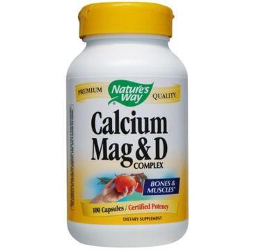 Nature's Way Calcium Mag & D Complex wapń magnez witamina D suplement diety 100 kapsułek