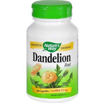 Nature's Way Dandelion Root korzeń mniszka lekarskiego suplement diety 100 kapsułek