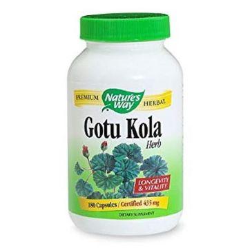Nature's Way Gotu Kola Herb łodyga i liść wąkroty azjatyckiej suplement diety 180 kapsułek