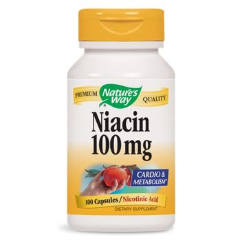 Nature's Way Niacin 100mg niacyna suplement diety 100 kapsułek