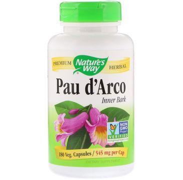Nature's Way Pau D'Arco Extract ekstrakt z wewnętrznej kory drzewa mrówkowego suplement diety 180 kapsułek