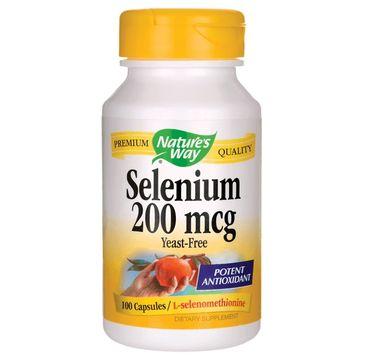 Nature's Way Selenium 200mcg selen suplement diety 100 kapsułek