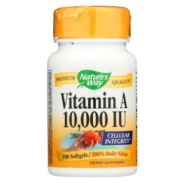 Nature's Way Vitamin A 10000 IU witamina A suplement diety 100 kapsułek