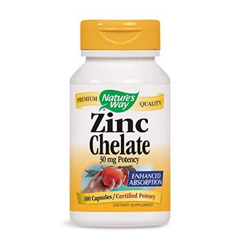 Nature's Way Zinc Chelate 30mg cynk suplement diety 100 kapsułek
