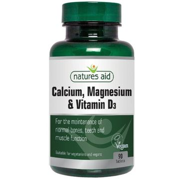 Natures Aid Calcium + Magnesium + Vitamin D3 suplement diety 90 tabletek