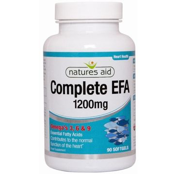Natures Aid Complete EFA 1200mg Omega 3. 6 & 9 suplement diety 90 kapsułek