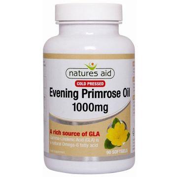 Natures Aid Evening Primrose Oil 1000mg suplement diety 90 kapsułek