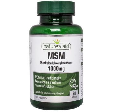 Natures Aid MSM 1000mg suplement diety 90 tabletek