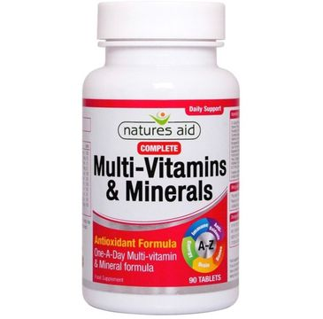 Natures Aid Multi-Vitamins & Minerals suplement diety 90 tabletek