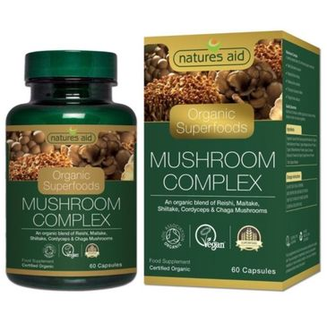 Natures Aid Organic Superfoods Mushroom Complex suplement diety 60 kapsułek