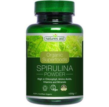 Natures Aid Organic Superfoods Spirulina suplement diety 150g