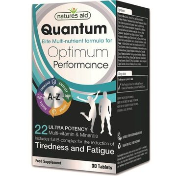 Natures Aid Quantum Optimum Performarce Tiredness and Fatigue suplement diety 30 tabletek