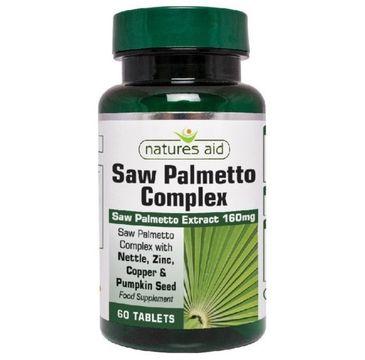 Natures Aid Saw Palmetto Complex (Palma Sabałowa) 160mg suplement diety 60 tabletek
