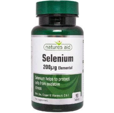 Natures Aid Selenium 200IU suplement diety 90 tabletek