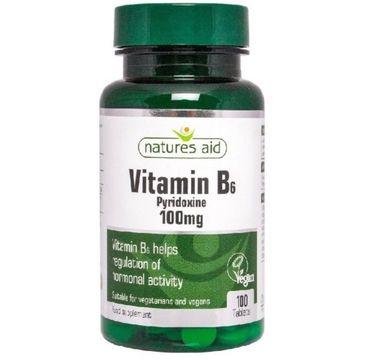Natures Aid Vitamin B6 100mg suplement diety 100 tabletek
