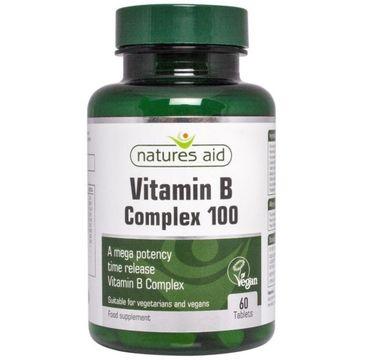 Natures Aid Vitamin B Complex Mega Potency suplement diety 60 tabletek