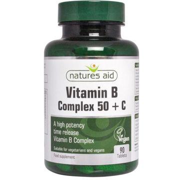 Natures Aid Vitamin B Complex + Vitamin C suplement diety 90 tabletek