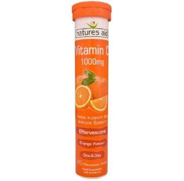 Natures Aid Vitamin C 1000mg suplement diety 20 tabletek musujących