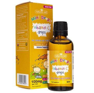 Natures Aid – Vitamin C 100 mg suplement diety w płynie (50 ml)