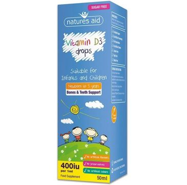 Natures Aid Vitamin D3 Drops 400IU suplement diety w płynie 50ml