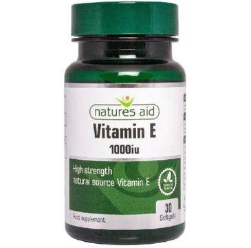 Natures Aid Vitamin E 1000IU suplement diety 30 kapsułek