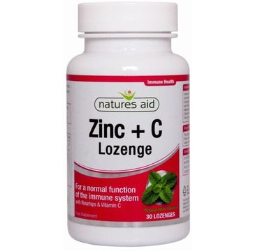 Natures Aid Zinc + C Lozenge suplement diety 30 tabletek do ssania