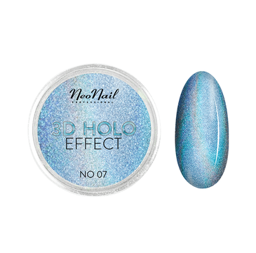 NeoNail 3D Holo Effect pyłek do paznokci No. 07 Blue (2 g)