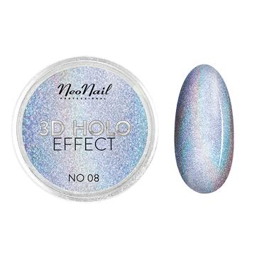 NeoNail 3D Holo Effect pyłek do paznokci No. 08 White Silver (2 g)