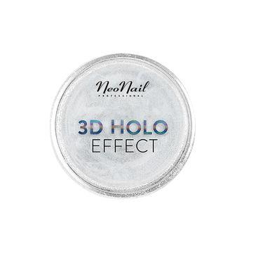 NeoNail 3D Holo Effect pyłek do paznokci Silver (0,3 g)