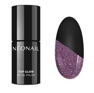 NeoNail UV Gel Polish Color Top Glow top hybrydowy Sparkling (7.2 ml)