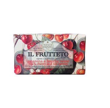 Nesti Dante Il Frutteto Sapone naturalne mydło toaletowe Czarna Wiśnia & Żurawina 250g