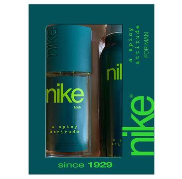 Nike – Zestaw prezentowy A Spicy Attitude for man dezodorant w szkle 75ml+dezodorant spray 200ml (1 szt.)
