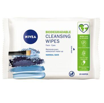 Nivea Biodegradable Cleansing Wipes biodegradowalne 3w1 odświeżające chusteczki do demakijażu (25 szt.)