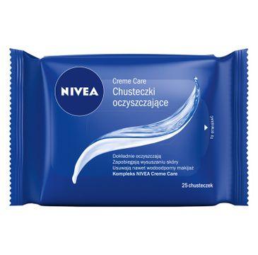 Nivea Creme Care Chusteczki oczyszczające do twarzy i rąk 1 op - 25 szt.