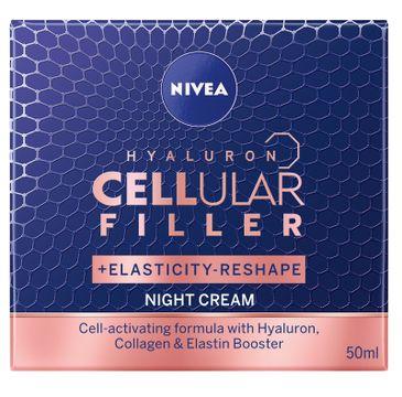 Nivea – Hyaluron Cellular Filler + Elasticity Reshape przeciwzmarszczkowy krem na noc (50 ml)