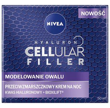 Nivea – Hyaluron Cellular Filler + Modelowanie Owalu przeciwzmarszczkowy krem na noc (50 ml)