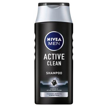 Nivea – Men Active Clean szampon głęboko oczyszczający (250 ml)