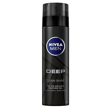 Nivea Men Deep Clean Shave żel do golenia z aktywnym węglem 200 ml