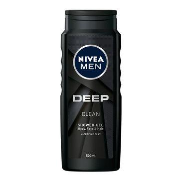 Nivea Men Deep Clean żel pod prysznic do ciała, twarzy i włosów 500 ml