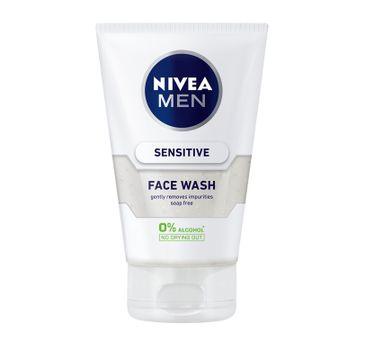 Nivea Men Sensitive Żel do mycia twarzy bez alkoholu 100 ml