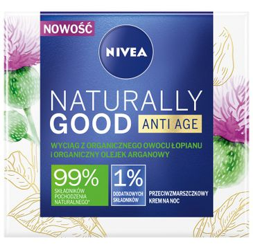 Nivea Naturally Good Anti Age krem przeciwzmarszczkowy na noc (50 ml)