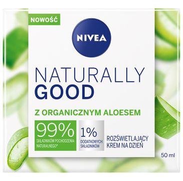 Nivea Naturally Good rozświetlający krem na dzień z organicznym aloesem (50 ml)