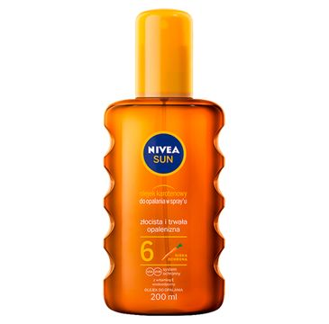 Nivea Sun olejek karotenowy do opalania w spray'u SPF6 (200 ml)